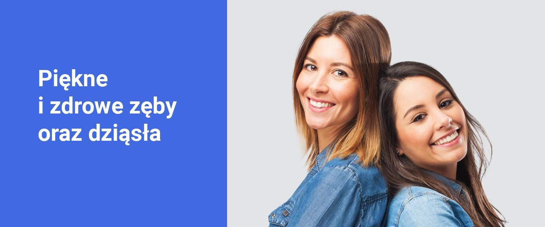 Banner piękne i zdrowe zęby oraz dziąsła - Poliklinika Stomatologiczna Polmedico